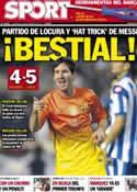 Portada diario Sport del 21 de Octubre de 2012