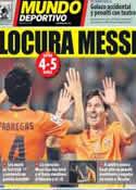 Portada Mundo Deportivo del 21 de Octubre de 2012