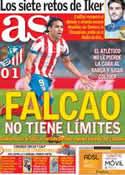 Portada diario AS del 22 de Octubre de 2012