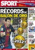 Portada diario Sport del 22 de Octubre de 2012
