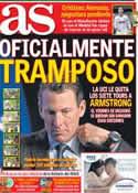 Portada diario AS del 23 de Octubre de 2012