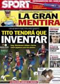 Portada diario Sport del 23 de Octubre de 2012