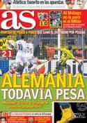 Portada diario AS del 25 de Octubre de 2012