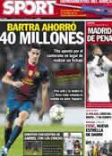 Portada diario Sport del 25 de Octubre de 2012