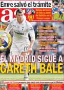 Portada diario AS del 26 de Octubre de 2012