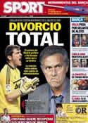 Portada diario Sport del 26 de Octubre de 2012
