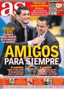 Portada diario AS del 27 de Octubre de 2012