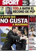 Portada diario Sport del 27 de Octubre de 2012
