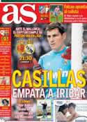 Portada diario AS del 28 de Octubre de 2012