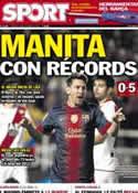 Portada diario Sport del 28 de Octubre de 2012