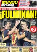Portada Mundo Deportivo del 28 de Octubre de 2012