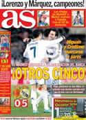 Portada diario AS del 29 de Octubre de 2012
