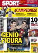 Portada diario Sport del 29 de Octubre de 2012
