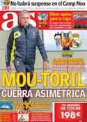 Portada diario AS del 31 de Octubre de 2012