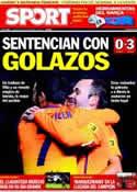 Portada diario Sport del 31 de Octubre de 2012