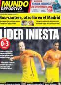 Portada Mundo Deportivo del 31 de Octubre de 2012