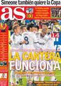 Portada diario AS del 1 de Noviembre de 2012