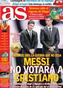 Portada diario AS del 2 de Noviembre de 2012