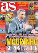 Portada diario AS del 3 de Noviembre de 2012