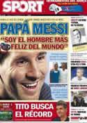 Portada diario Sport del 3 de Noviembre de 2012