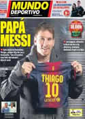 Portada Mundo Deportivo del 3 de Noviembre de 2012