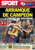 Portada diario Sport del 4 de Noviembre de 2012