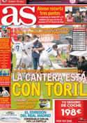Portada diario AS del 5 de Noviembre de 2012