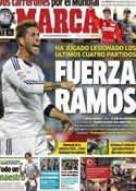 Portada diario Marca del 5 de Noviembre de 2012