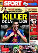Portada diario Sport del 5 de Noviembre de 2012