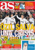 Portada diario AS del 7 de Noviembre de 2012