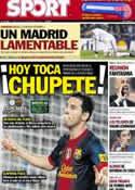 Portada diario Sport del 7 de Noviembre de 2012