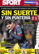 Portada diario Sport del 8 de Noviembre de 2012