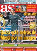 Portada diario AS del 9 de Noviembre de 2012