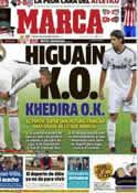 Portada diario Marca del 9 de Noviembre de 2012