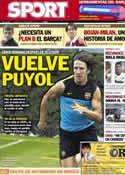 Portada diario Sport del 9 de Noviembre de 2012