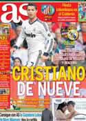 Portada diario AS del 11 de Noviembre de 2012