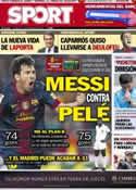 Portada diario Sport del 11 de Noviembre de 2012