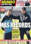 Portada Mundo Deportivo del 11 de Noviembre de 2012