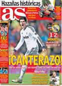 Portada diario AS del 12 de Noviembre de 2012