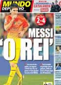 Portada Mundo Deportivo del 12 de Noviembre de 2012