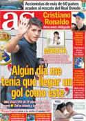 Portada diario AS del 13 de Noviembre de 2012