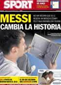 Portada diario Sport del 13 de Noviembre de 2012