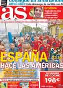 Portada diario AS del 14 de Noviembre de 2012