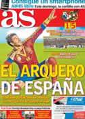 Portada diario AS del 15 de Noviembre de 2012