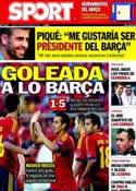 Portada diario Sport del 15 de Noviembre de 2012