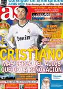 Portada diario AS del 16 de Noviembre de 2012