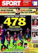 Portada diario Sport del 16 de Noviembre de 2012