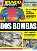 Portada Mundo Deportivo del 16 de Noviembre de 2012