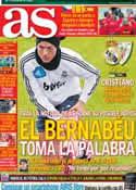 Portada diario AS del 17 de Noviembre de 2012