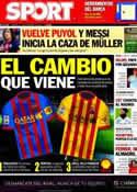 Portada diario Sport del 17 de Noviembre de 2012